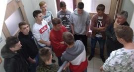 Uczniowie ZSP Kościelec podczas nagrań