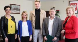 Mistrz Polski z wizytą u starosty