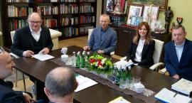 Rozmawiali o dofinansowaniu przebudowy ulicy Magazynowej