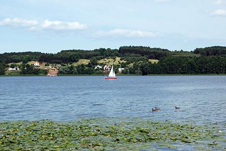 Jezioro, jeziora Chodzieży - zdjęcie, fotografia