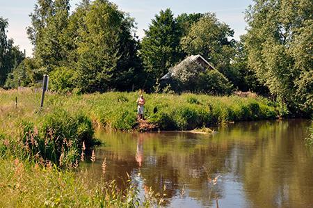 Rzeka, Olkowa Kępa - zdjęcie, fotografia