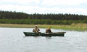 Jezioro, Jezioro Sajno - zdjęcie, fotografia