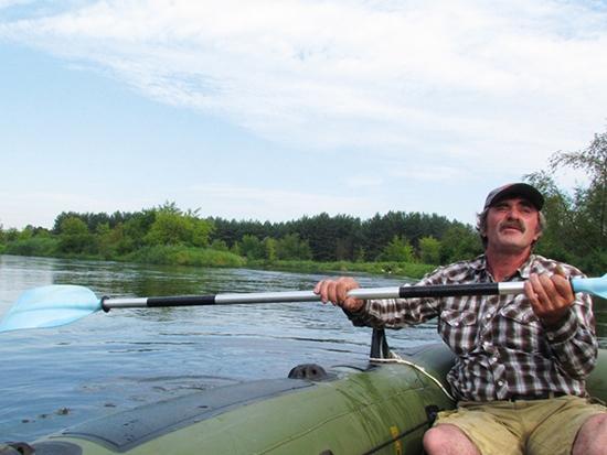 Rzeka, Pontonem Pilicy - zdjęcie, fotografia
