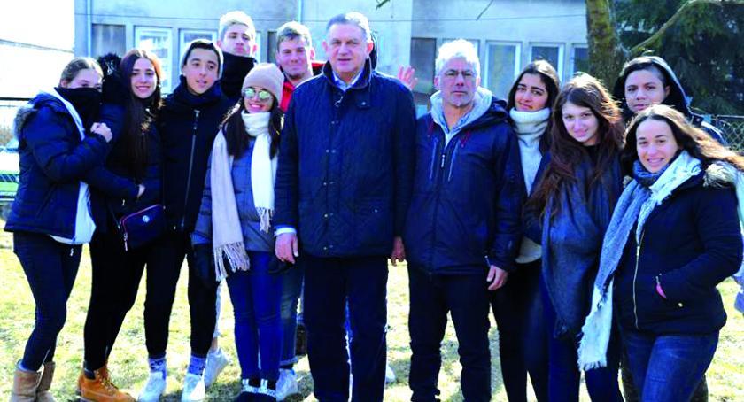 samorząd, Młodzież Izraela spotkaniu burmistrzem - zdjęcie, fotografia