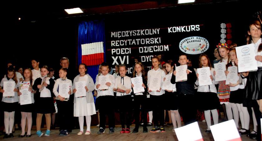 konkursy, Recytowali trzecioklasiści - zdjęcie, fotografia