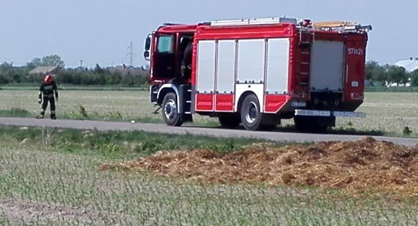 pożary, Słoma Skarżynie - zdjęcie, fotografia