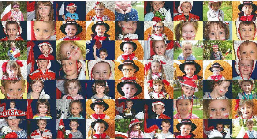 imprezy przedszkolne, Biało czerwone przedszkolaki fajna inicjatywa lecie niepodległości - zdjęcie, fotografia