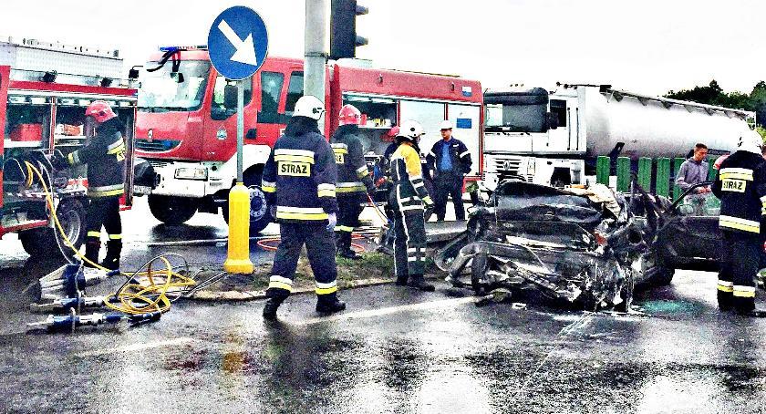 wypadki, Koszmarny wypadek Przyborowicach - zdjęcie, fotografia