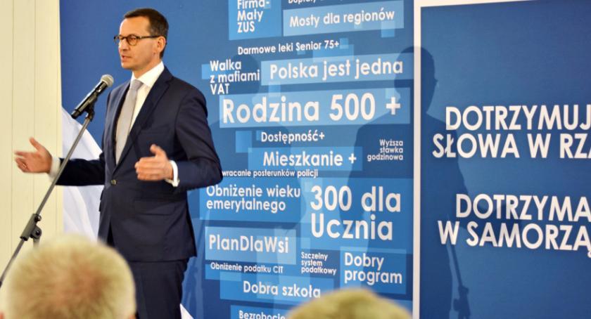 wybory - wiadomości, Premier Morawiecki Płońsku - zdjęcie, fotografia