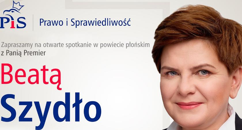 polityka, Beata Szydło Raciążu Baboszewie Sochocinie - zdjęcie, fotografia