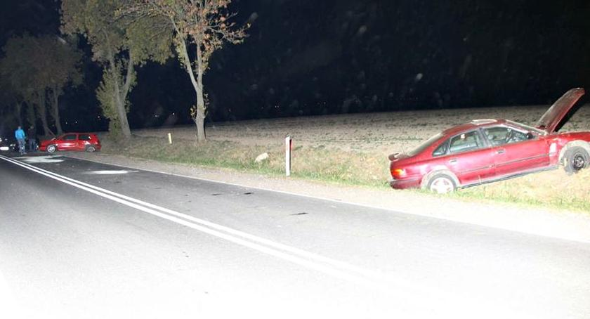 wypadki, Zderzenie czterech Koziminach - zdjęcie, fotografia
