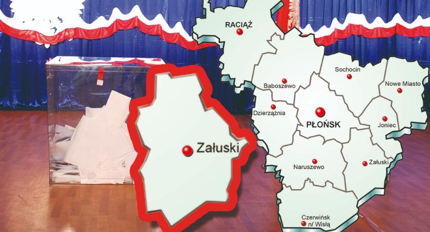 wybory - wiadomości, Skład nowej gminy Załuski - zdjęcie, fotografia