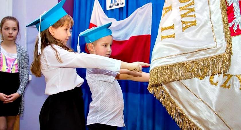 edukacja, Ślubowali Grodźcu - zdjęcie, fotografia