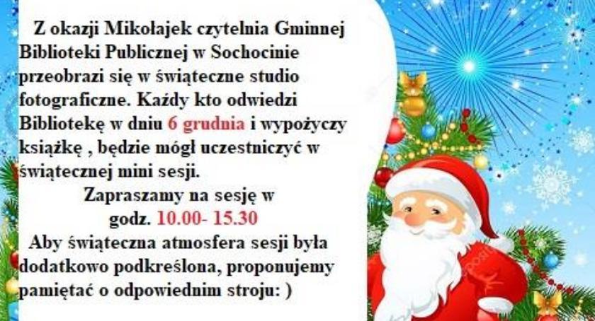 zaproszenia, Mikołajki bibliotece - zdjęcie, fotografia