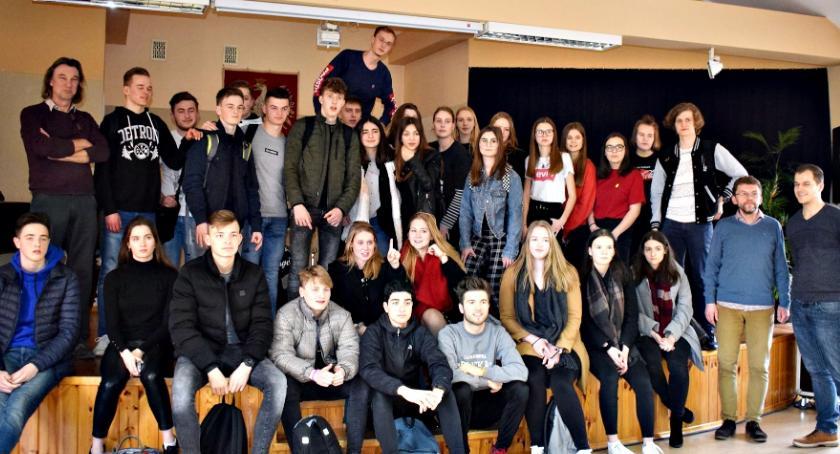 imprezy szkolne, Uczniowie Winschoten płońskim - zdjęcie, fotografia