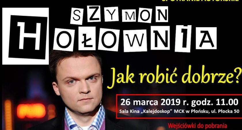 zaproszenia, Biblioteka zaprasza spotkanie Szymonem Hołownią - zdjęcie, fotografia
