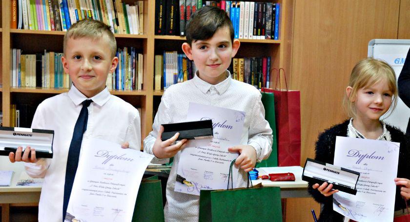 edukacja, pióro wójta ortografii najlepszy Kamil Brudzyński - zdjęcie, fotografia