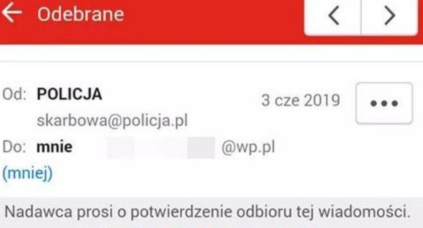 bezpieczeństwo, Uwaga fałszywe maile policja ostrzega - zdjęcie, fotografia