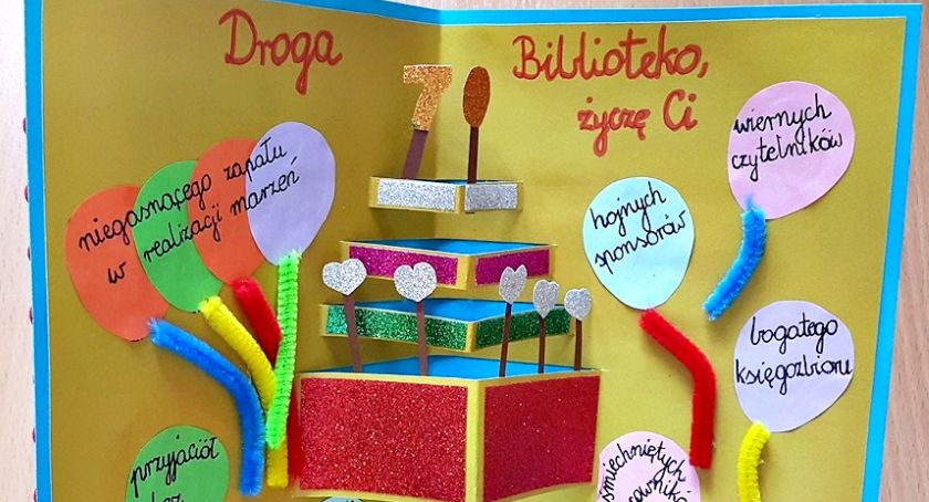 konkursy, Urodzinowe kartki biblioteki - zdjęcie, fotografia