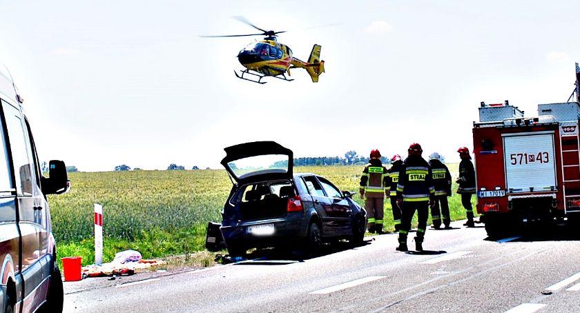 wypadki, Bardzo poważny wypadek Kozarzewie zakończyło tragicznie - zdjęcie, fotografia