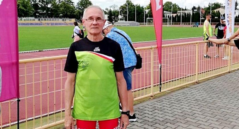 lekkoatletyka, Złoto Jerzego Michalaka mistrzostwach Polski mastersów - zdjęcie, fotografia
