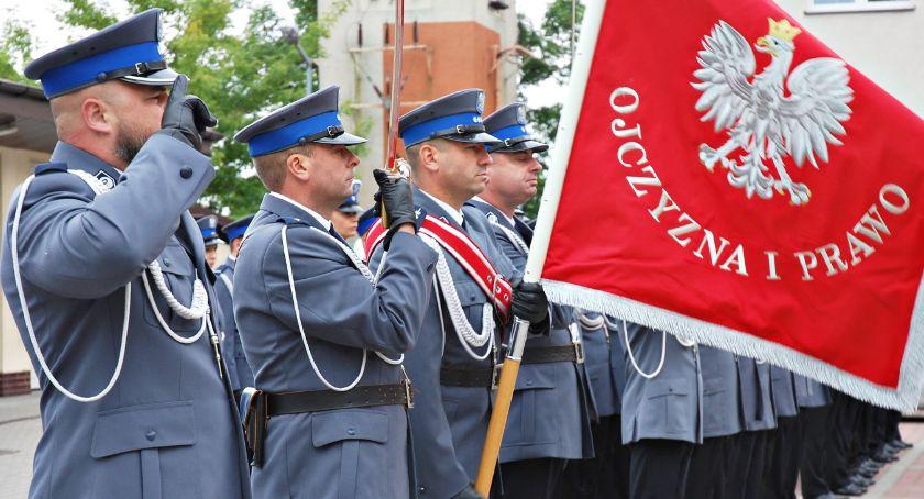 święta/uroczystości, Świętowali policjanci - zdjęcie, fotografia