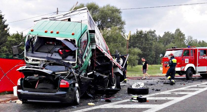 wypadki, Tragiczny wypadek siódemce Pawłowie - zdjęcie, fotografia