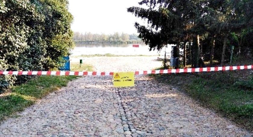 ekologia, Zakazy (kąpieli połowu poboru wody) Wiśle gminie Czerwińsk - zdjęcie, fotografia