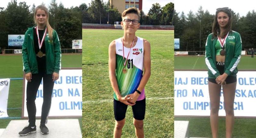 lekkoatletyka, medale lekkoatletów Płońsk Olecku - zdjęcie, fotografia