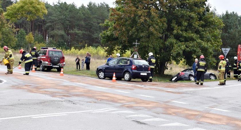 wypadki, Groźnie skrzyżowaniu Bolęcinie - zdjęcie, fotografia