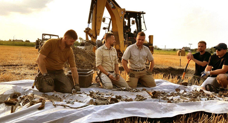 historia, Szczegóły odkrycia pozostałości zestrzelonego samolotu Kiełkach - zdjęcie, fotografia