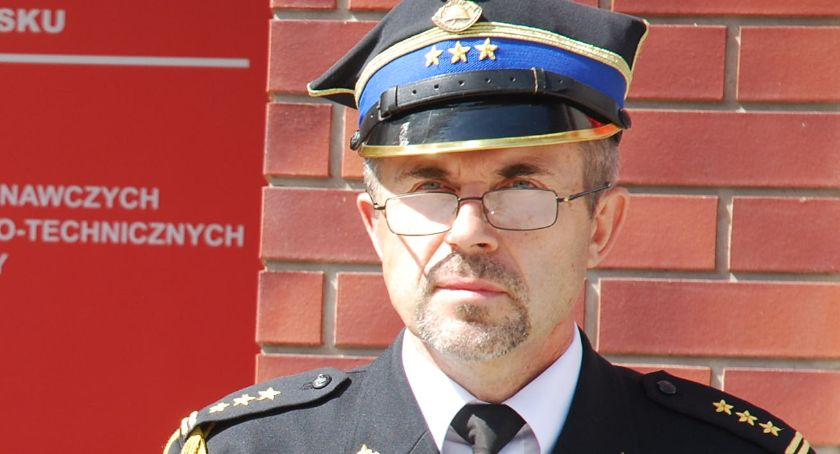 bezpieczeństwo, Dariusz Brzeziński nowym komendantem powiatowej straży pożarnej - zdjęcie, fotografia
