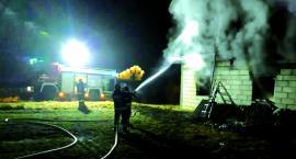 Płonął budynek dla pracowników