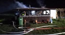 Płonął domek
