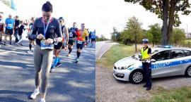 Policjantka z drogówki na maratońskiej trasie
