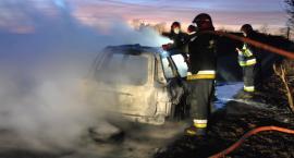Płonęły auta