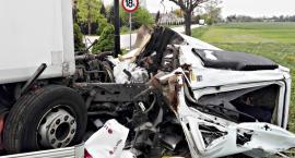 Zderzenie dwóch ciężarówek w Rzewinie