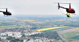 Śmigłowcowy zawrót głowy - widzimy wszystko z góry lecąc z Kępy nad Płońsk