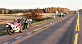 Motocykl z motocyklem na siódemce - dwie osoby trafiły do szpitala