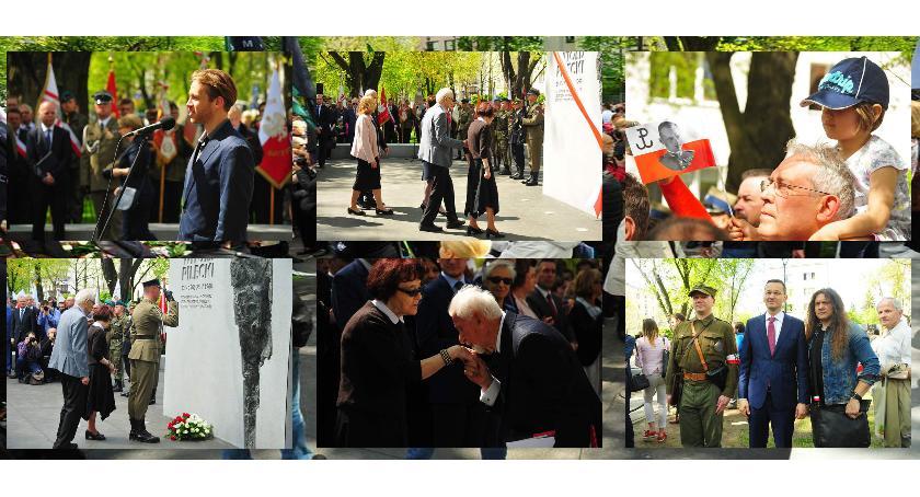 pomniki i ekspozycje, Odsłonięcie pomnika Witolda Pileckiego Żoliborzu - zdjęcie, fotografia