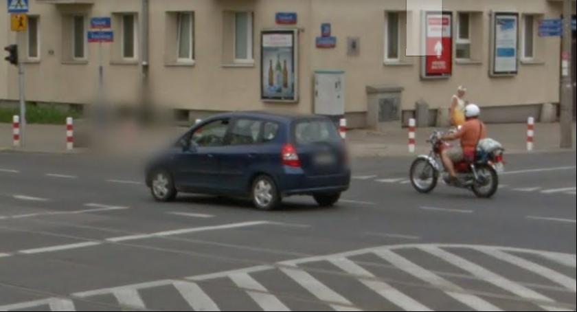 bezpieczeństwo, Niebezpieczne skrzyżowanie Żoliborzu - zdjęcie, fotografia
