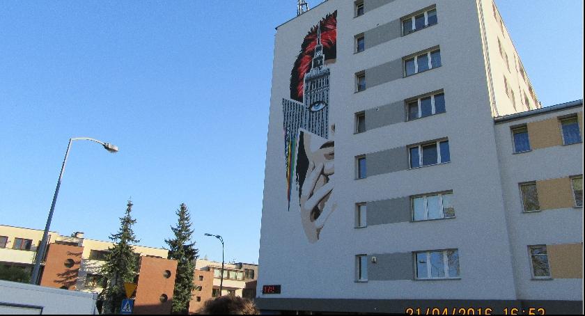 imprezy plenerowe, Mural Dawida Bowiego odsłonięty - zdjęcie, fotografia