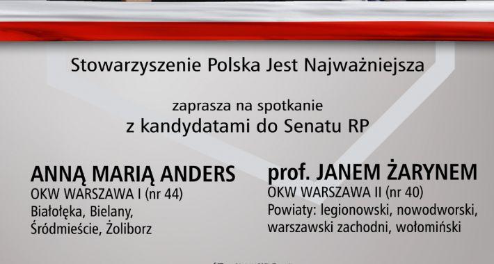 dyskusje, Spotkanie Janem Żarynem Anną Marią Anders - zdjęcie, fotografia