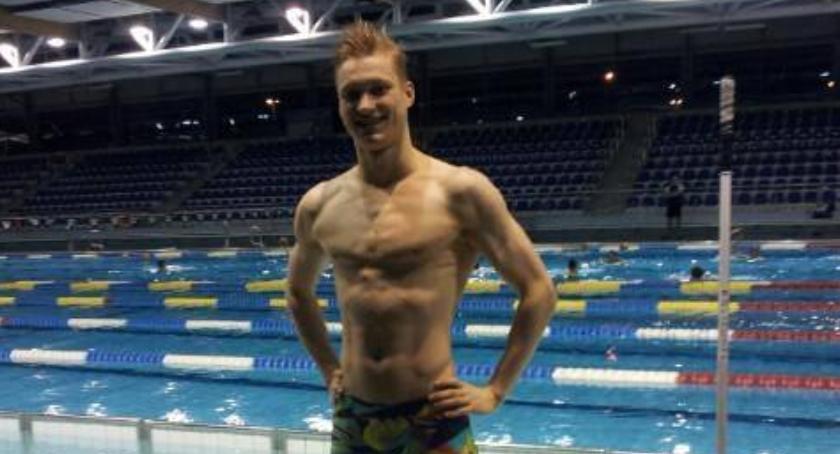 pływanie, Marcin Stolasrki pierwszy pływak Żoliborza Igrzyskach Olimpijskich - zdjęcie, fotografia