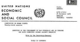 Oświadczenie rządu PRL z 27 września 1969 roku złożone na ręce Sekretarza Generalnego ONZ.