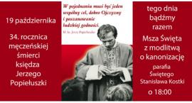 34. rocznica męczeńskiej śmierci księdza Jerzego Popiełuszki