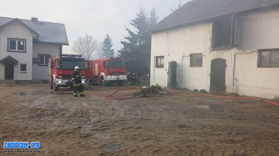 straż, Pożar stodoły Krajewie Ćwikłach [foto] - zdjęcie, fotografia