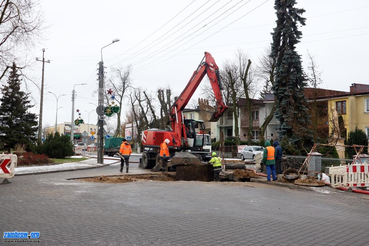 inwestycje, Renowacja kanalizacji centrum miasta Uwaga utrudnienia ruchu! [foto] - zdjęcie, fotografia