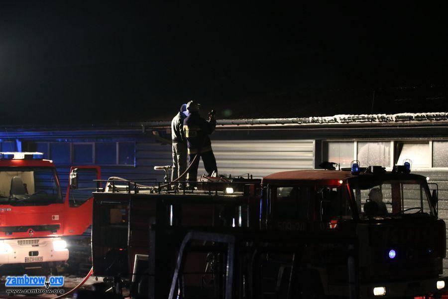 straż, Pożar magazynu Rutkach [foto+video] - zdjęcie, fotografia