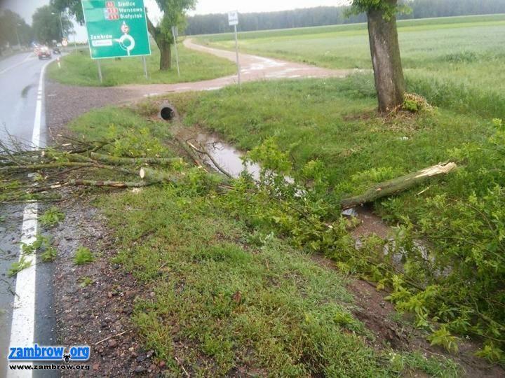 straż, Nawałnica przeszła naszym regionem Wyglądało groźnie - zdjęcie, fotografia